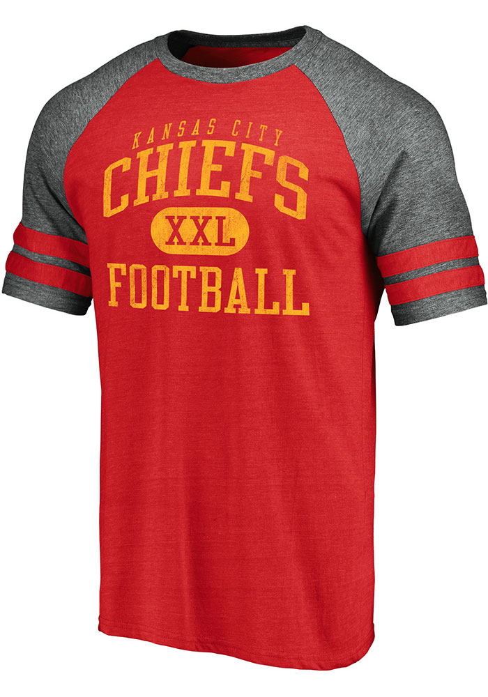 Kansas City Chiefs Red Classic Arch Short Sleeve Fashion T Shirt - Image 1