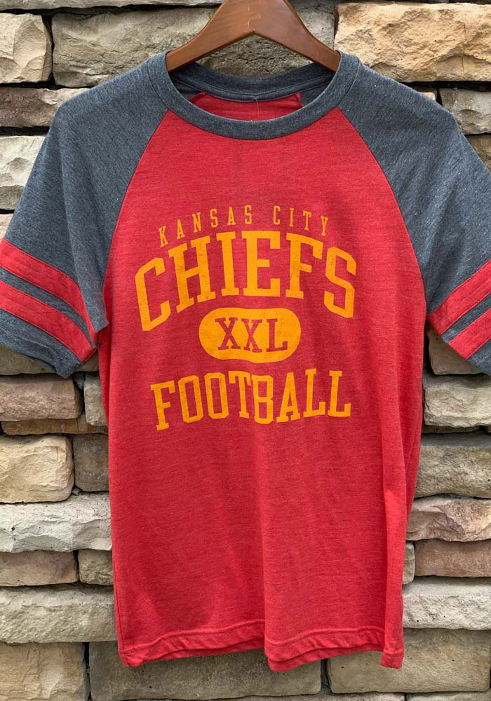 Kansas City Chiefs Red Classic Arch Short Sleeve Fashion T Shirt - Image 3