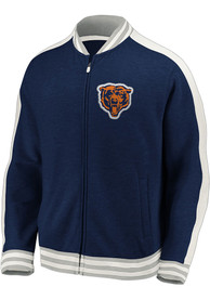 Chicago Bears Vintage Zip Fashion - Navy Blue