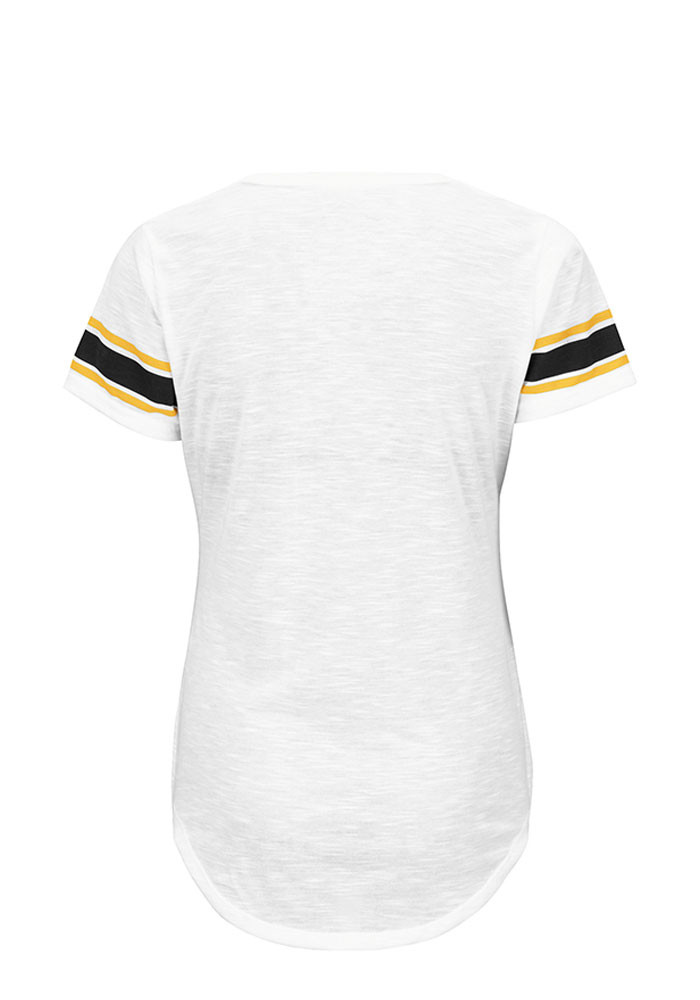 Pittsburgh Steelers Womens White Tailgate Scoop T-Shirt - Image 2