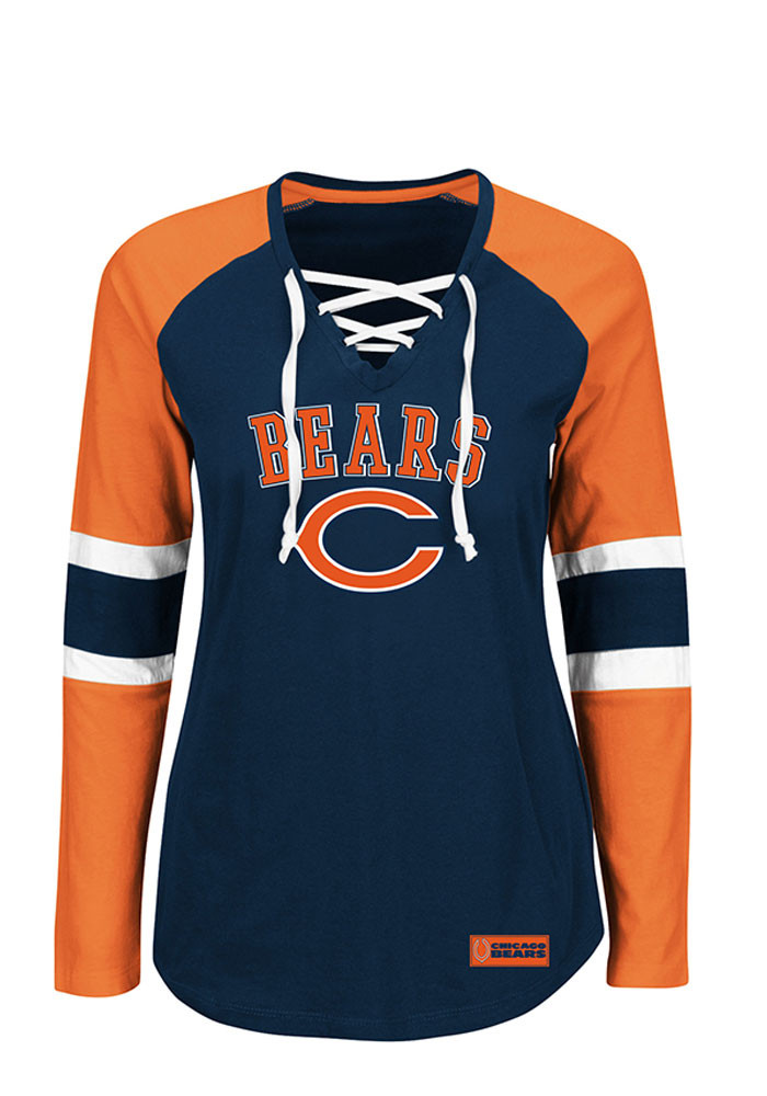 Chicago Bears Womens Navy Blue Winning Style Long Sleeve T-Shirt - Image 1