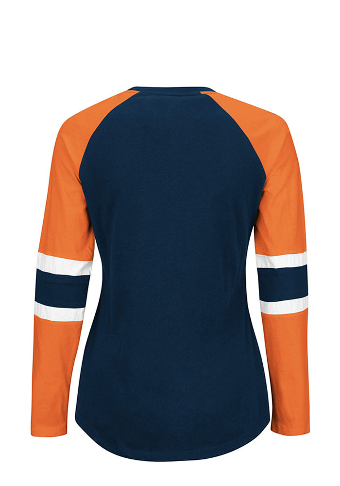 Chicago Bears Womens Navy Blue Winning Style Long Sleeve T-Shirt - Image 2