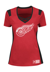 Detroit Red Wings Womens Majestic Draft Me Fashion Hockey - Red