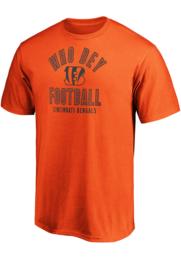 Cincinnati Bengals Arc Logo T Shirt - Orange