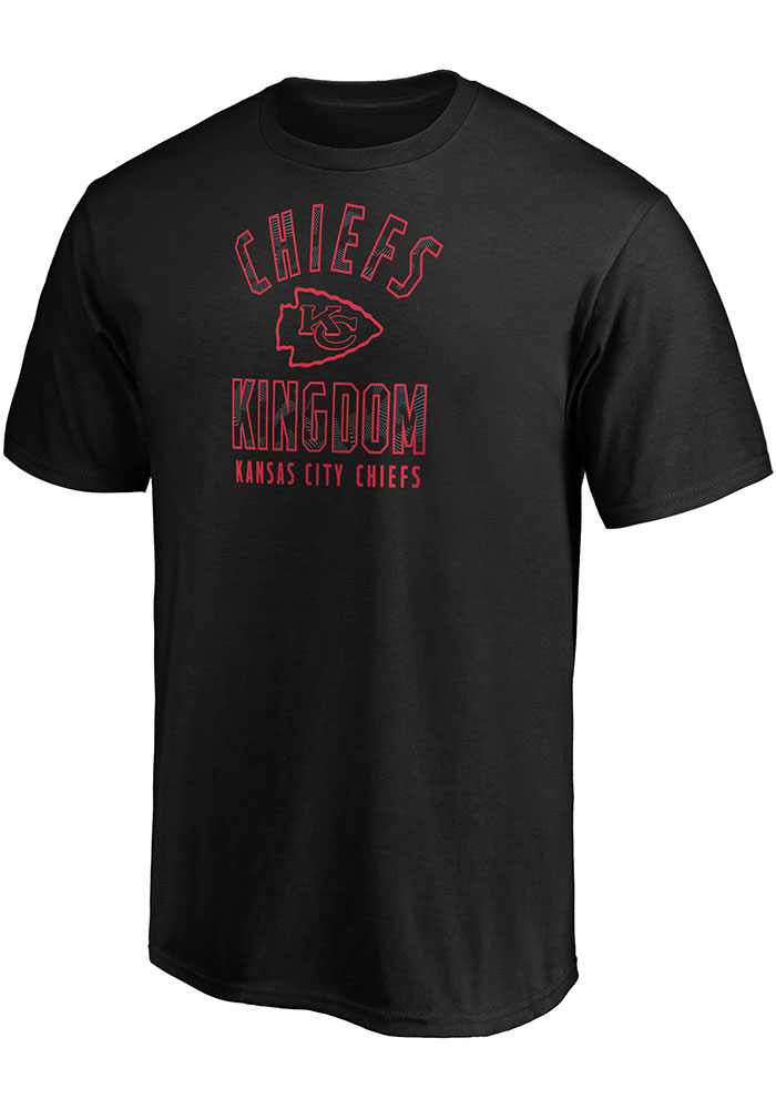 Kansas City Chiefs Black Arc Logo Short Sleeve T Shirt - Image 1