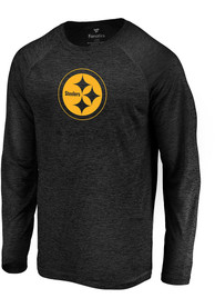 53308666 Pittsburgh Steelers Black Striated Tonal Tee