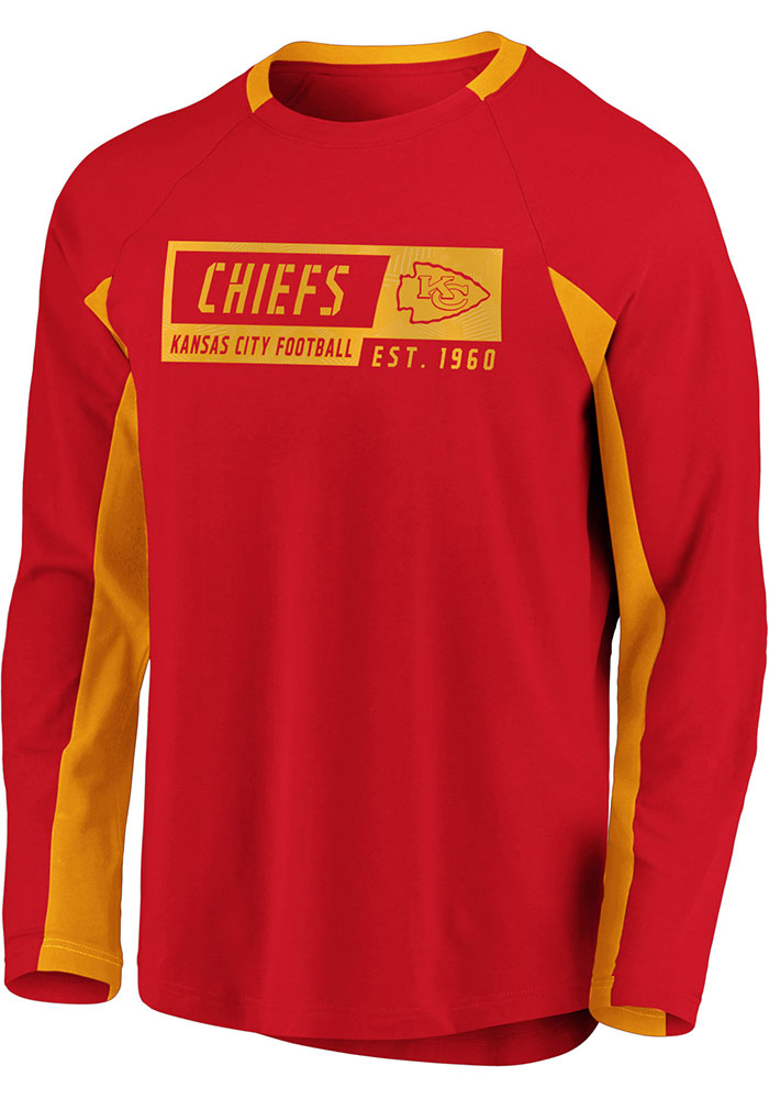 Kansas City Chiefs Red Flex Blend Engage Long Sleeve T-Shirt - Image 1