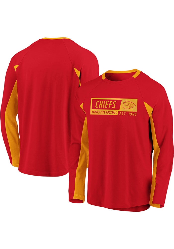 Kansas City Chiefs Red Flex Blend Engage Long Sleeve T-Shirt - Image 3