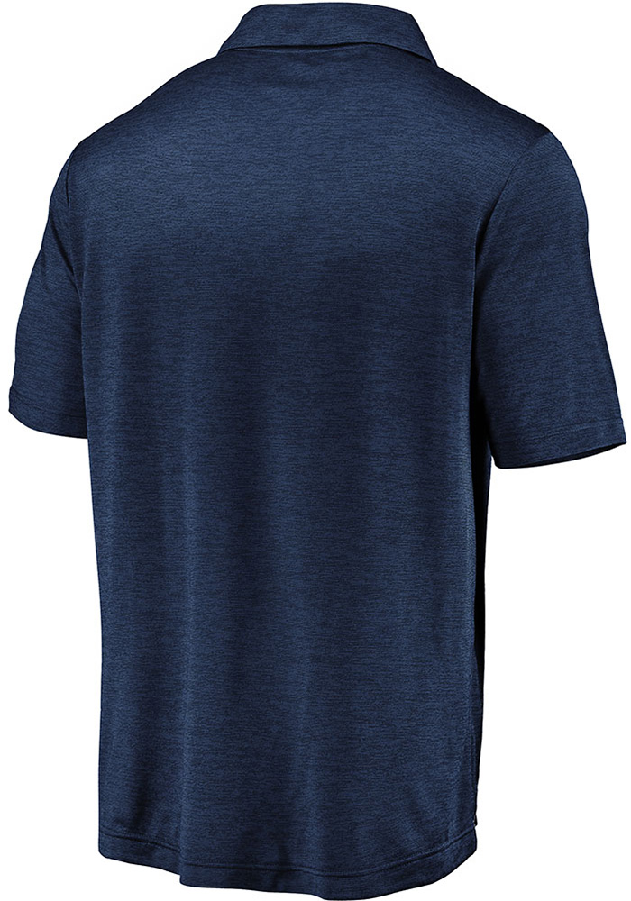 Chicago Bears Mens Navy Blue Striated Primary Short Sleeve Polo - Image 2