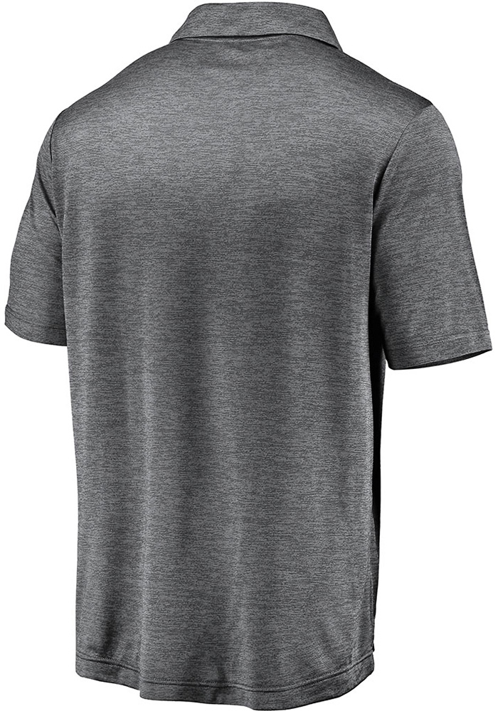 Cleveland Browns Mens Grey Striated Primary Short Sleeve Polo - Image 2