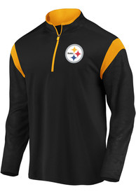 Pittsburgh Steelers Defender Mission 1/4 Zip Pullover - Black