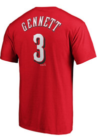 Scooter Gennett Cincinnati Reds Majestic Name and Number T-Shirt - Red