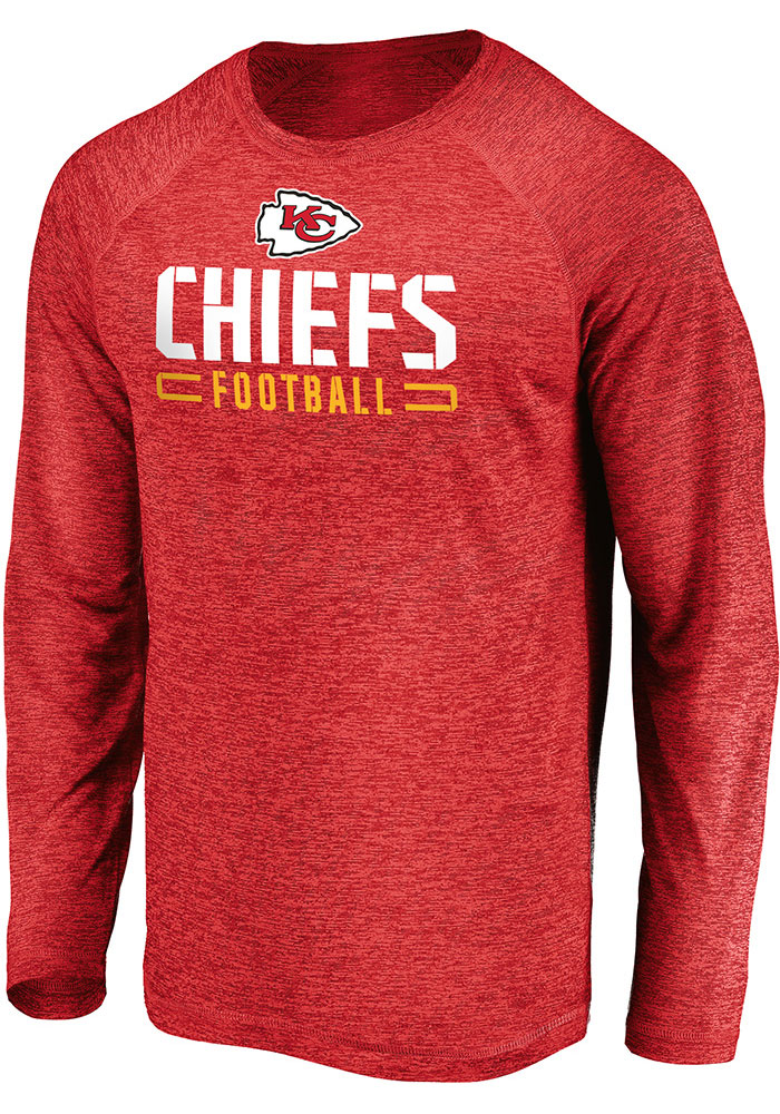 Kansas City Chiefs Red Engage Stack Long Sleeve T-Shirt - Image 1