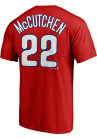 Andrew McCutchen Philadelphia Phillies Majestic Name and Number T-Shirt - Red