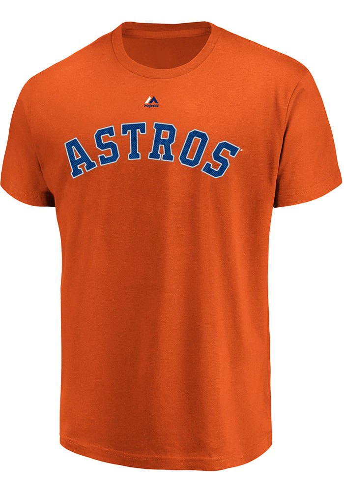 Houston Astros Wordmark T Shirt - Orange