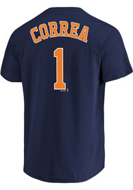 Carlos Correa Houston Astros Name and Number T-Shirt - Navy Blue