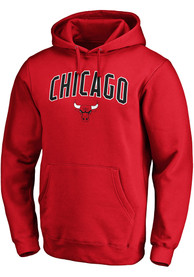 Chicago Bulls Engage Arch Hooded Sweatshirt - Red