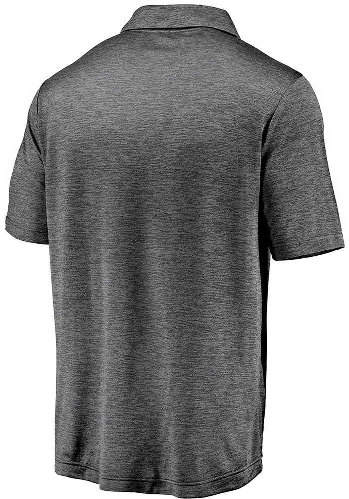 Kansas City Chiefs Mens Grey Striated Primary Short Sleeve Polo - Image 2