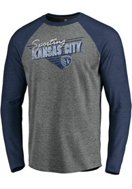 Sporting Kansas City Raglan Transition Fashion T Shirt - Grey