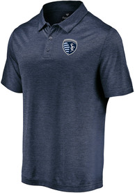 Sporting Kansas City Striated Polo Shirt - Navy Blue