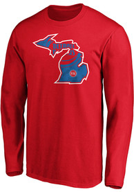 Detroit Pistons Team State Pride T Shirt - Red