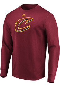 Cleveland Cavaliers Majestic Logo T Shirt - Red