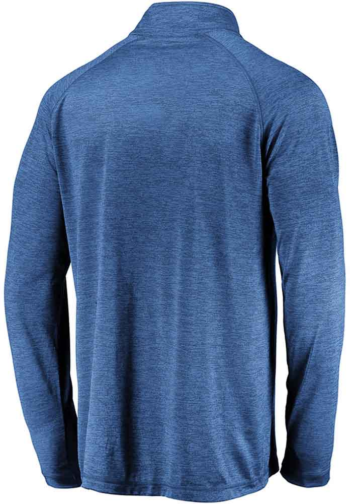 St Louis Blues Mens Blue Striated Raglan Long Sleeve 1/4 Zip Pullover - Image 2