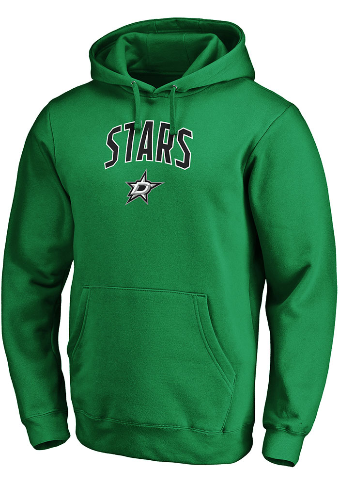 Dallas Stars Mens Kelly Green Engage Arch POH Long Sleeve Hoodie - Image 1