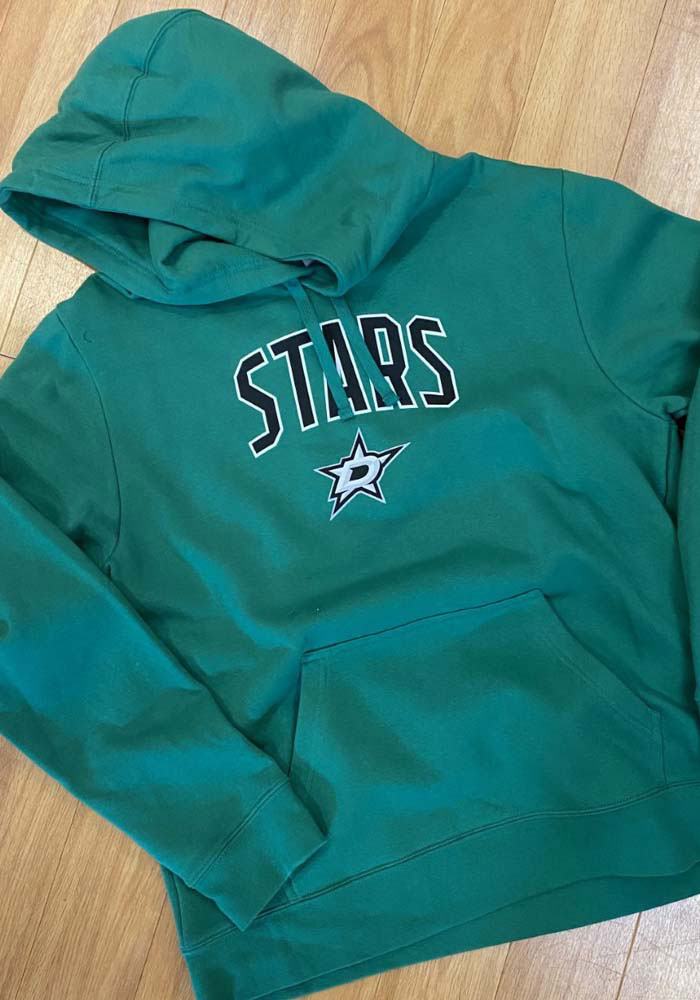 Dallas Stars Mens Kelly Green Engage Arch Long Sleeve Hoodie - Image 3
