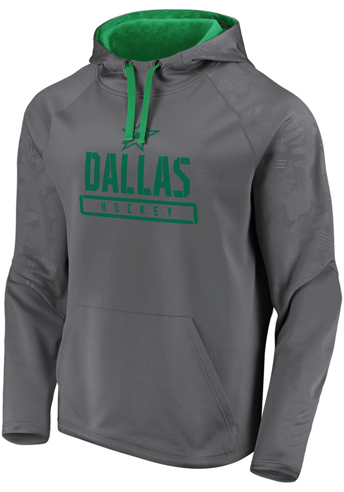Dallas Stars Mens Charcoal Dfndr Mono Engage Hood - Image 1