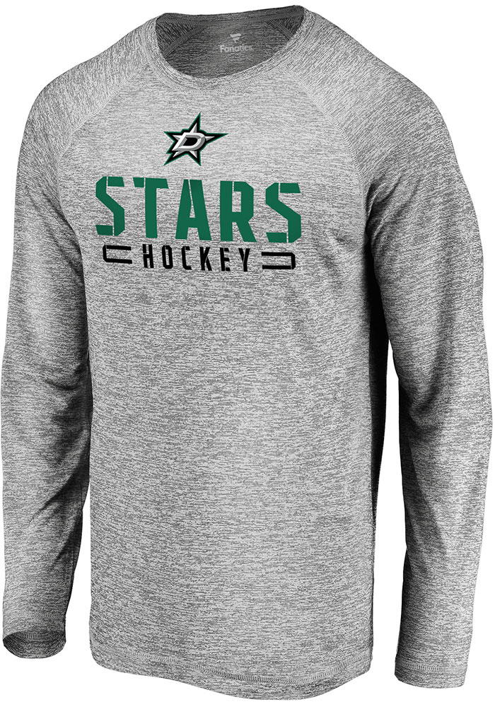 Dallas Stars Grey Stri Engage Stack Long Sleeve T-Shirt - Image 1