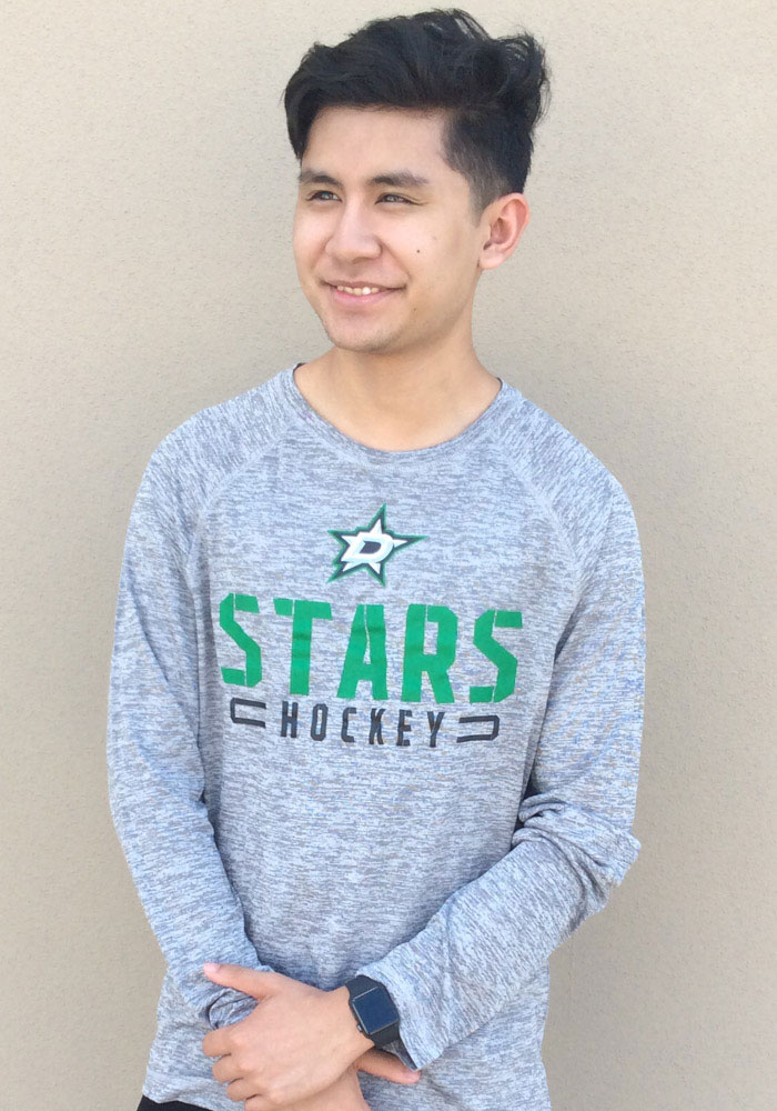 Dallas Stars Grey Stri Engage Stack Long Sleeve T-Shirt - Image 3