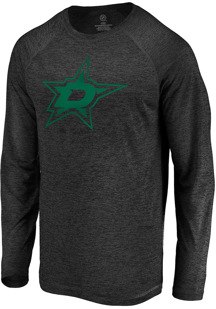 Dallas Stars Black Striated Tnl Logo Long Sleeve T-Shirt - Image 1