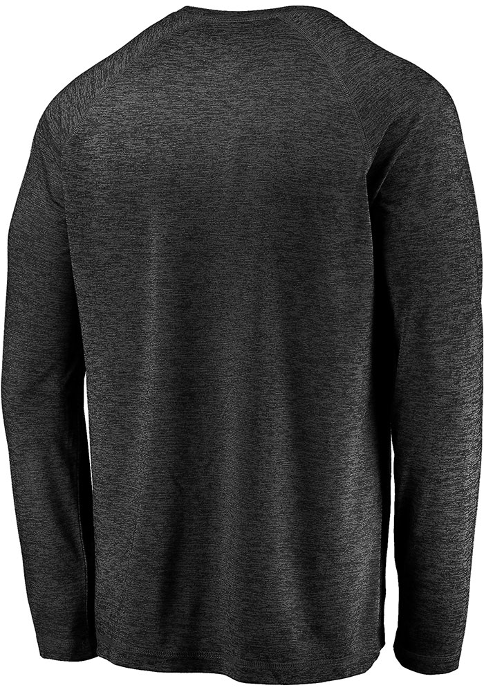 Dallas Stars Black Striated Tnl Logo Long Sleeve T-Shirt - Image 2