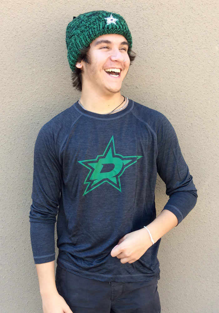 Dallas Stars Black Striated Tnl Logo Long Sleeve T-Shirt - Image 3