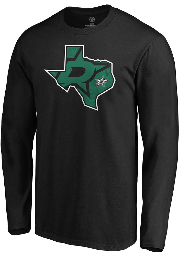 Dallas Stars Black Team State Pride Long Sleeve T Shirt - Image 1