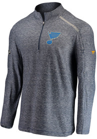 St Louis Blues Off Ice 1/4 Zip Pullover - Navy Blue