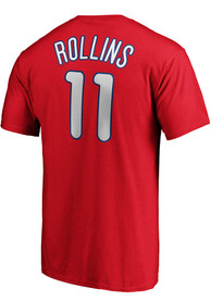 Jimmy Rollins Philadelphia Phillies Majestic Retirement T-Shirt - Red