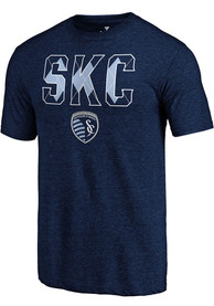 Sporting Kansas City Diamond Dip Fashion T Shirt - Navy Blue