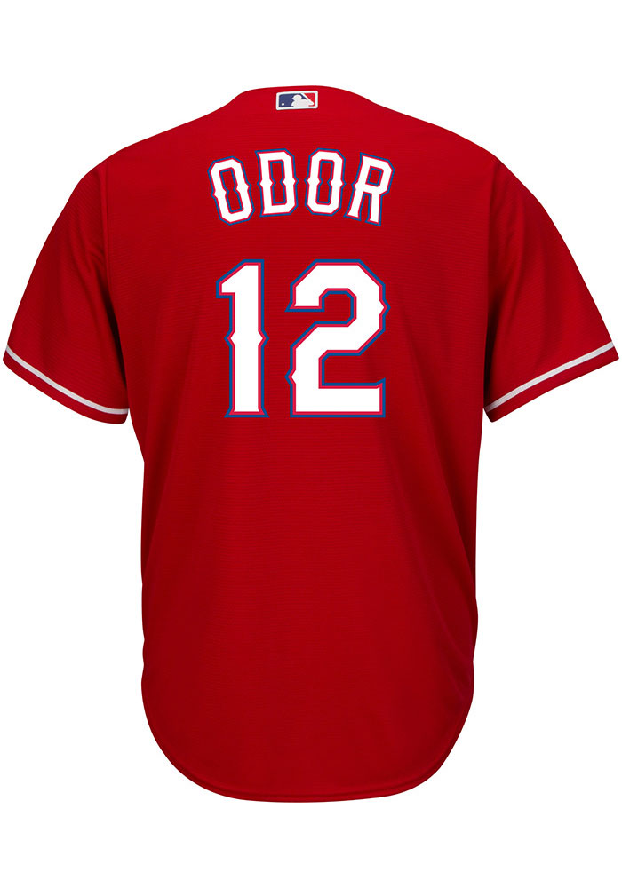Rougned Odor Texas Rangers Mens Replica Coolbase Jersey - Red - Image 1
