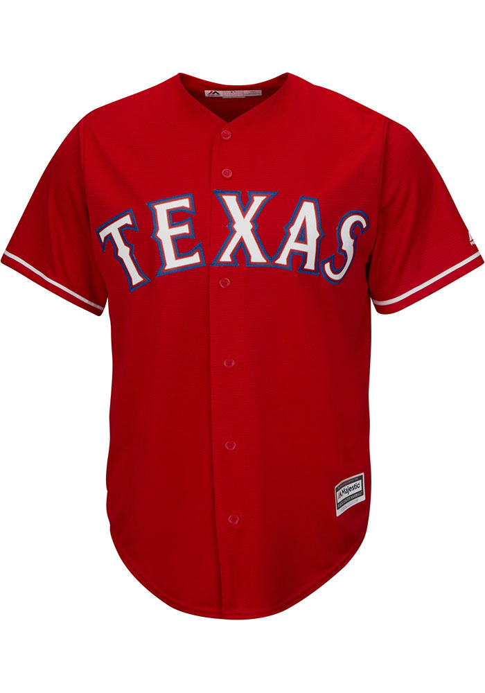 new styles 99fed c43a9 Rougned Odor Texas Rangers Mens Replica 2019 Home Jersey - Red