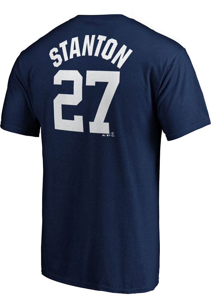 new products c1e9d 8ed81 Giancarlo Stanton New York Yankees Navy Blue N & N Short Sleeve Player T  Shirt