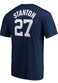 Giancarlo Stanton New York Yankees Majestic Name and Number T-Shirt - Navy Blue