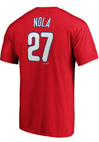 Aaron Nola Philadelphia Phillies Majestic Name and Number T-Shirt - Red