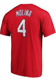 Yadier Molina St Louis Cardinals Majestic Name and Number T-Shirt - Red