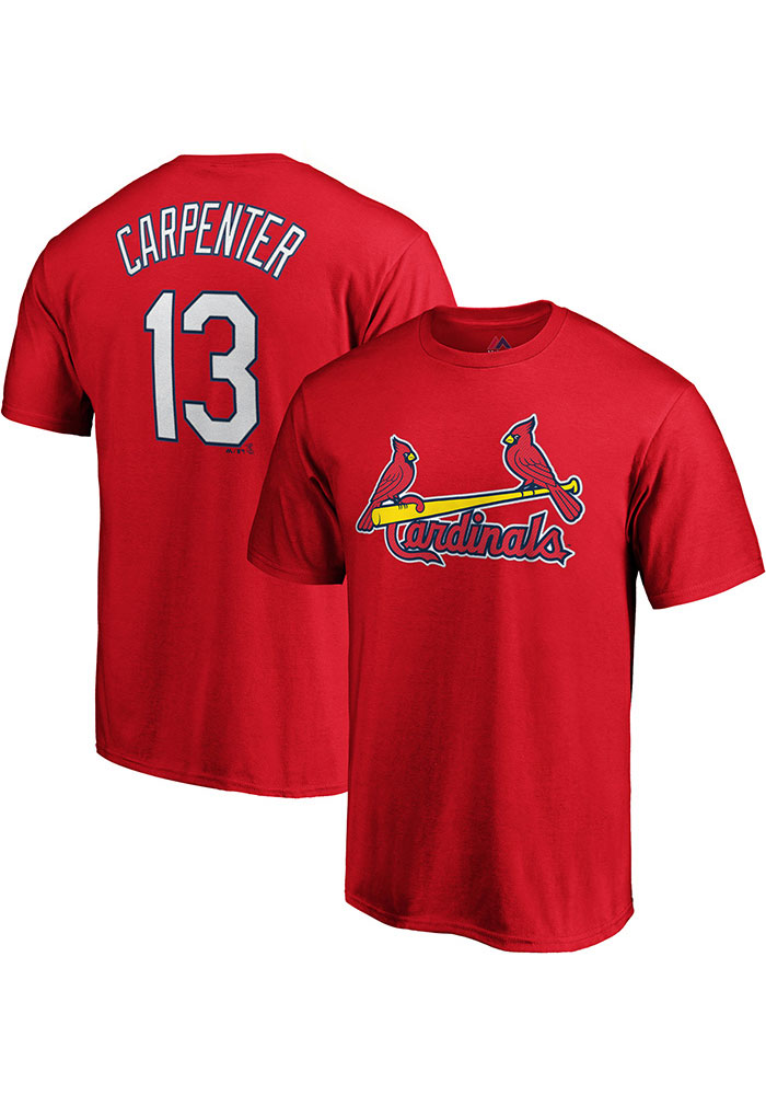 new concept 70f6b 3185e Matt Carpenter St Louis Cardinals Red N & N Short Sleeve Player T Shirt