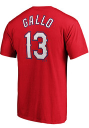 Joey Gallo Texas Rangers Majestic Name and Number T-Shirt - Red