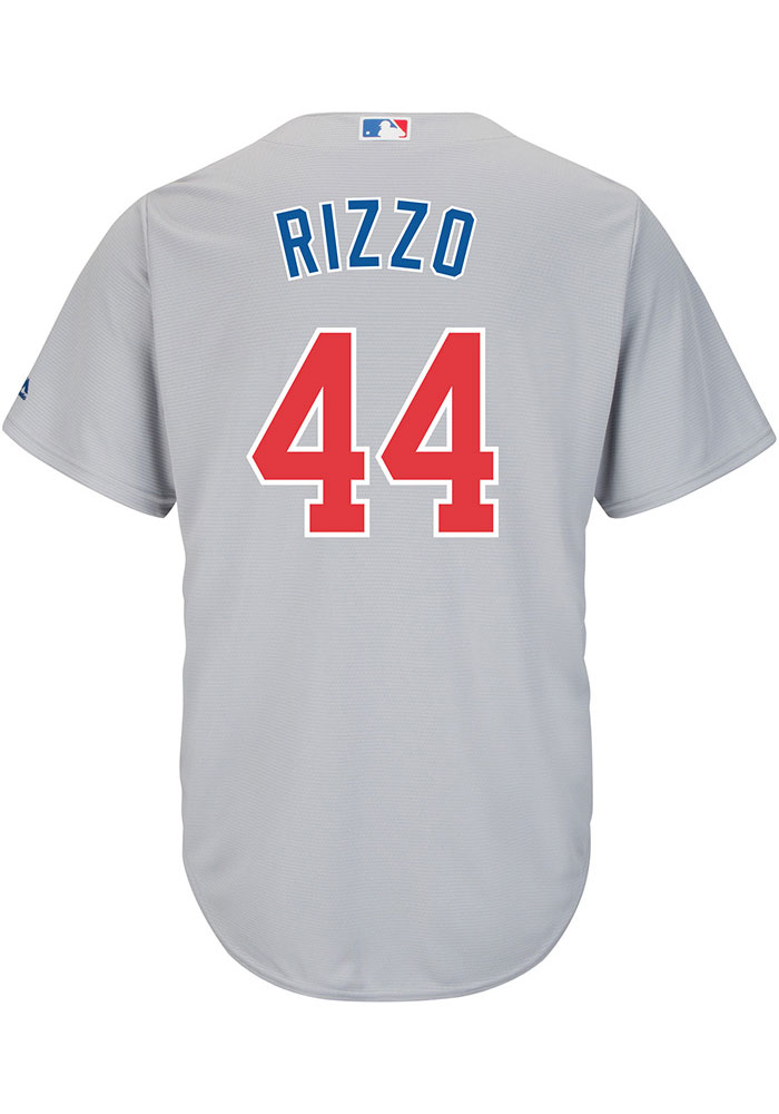 Anthony Rizzo Chicago Cubs Mens Replica 2019 Road Jersey - Grey - Image 1