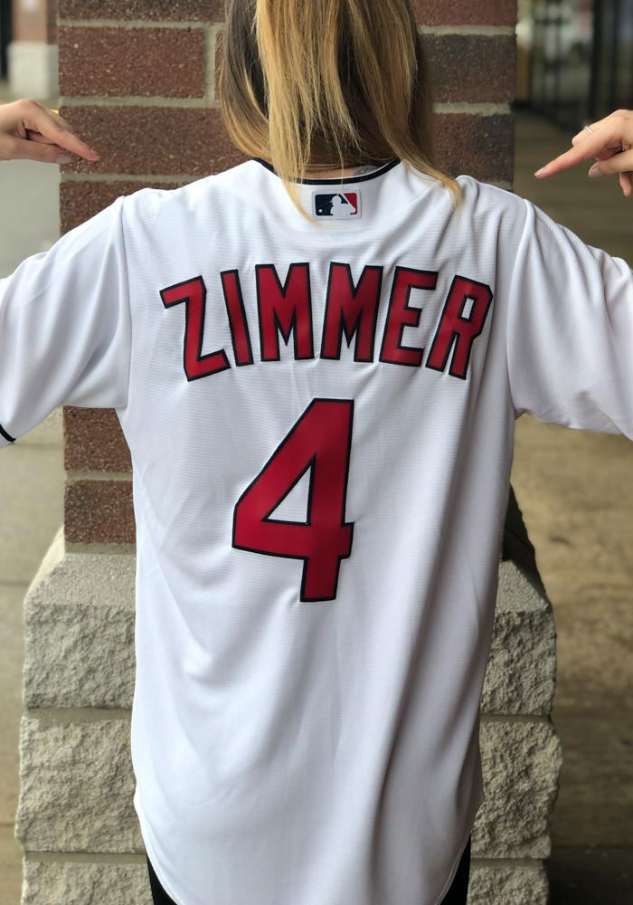 new products 0de5b 91cf2 Bradley Zimmer Cleveland Indians Mens Replica Coolbase Replica Jersey -  White