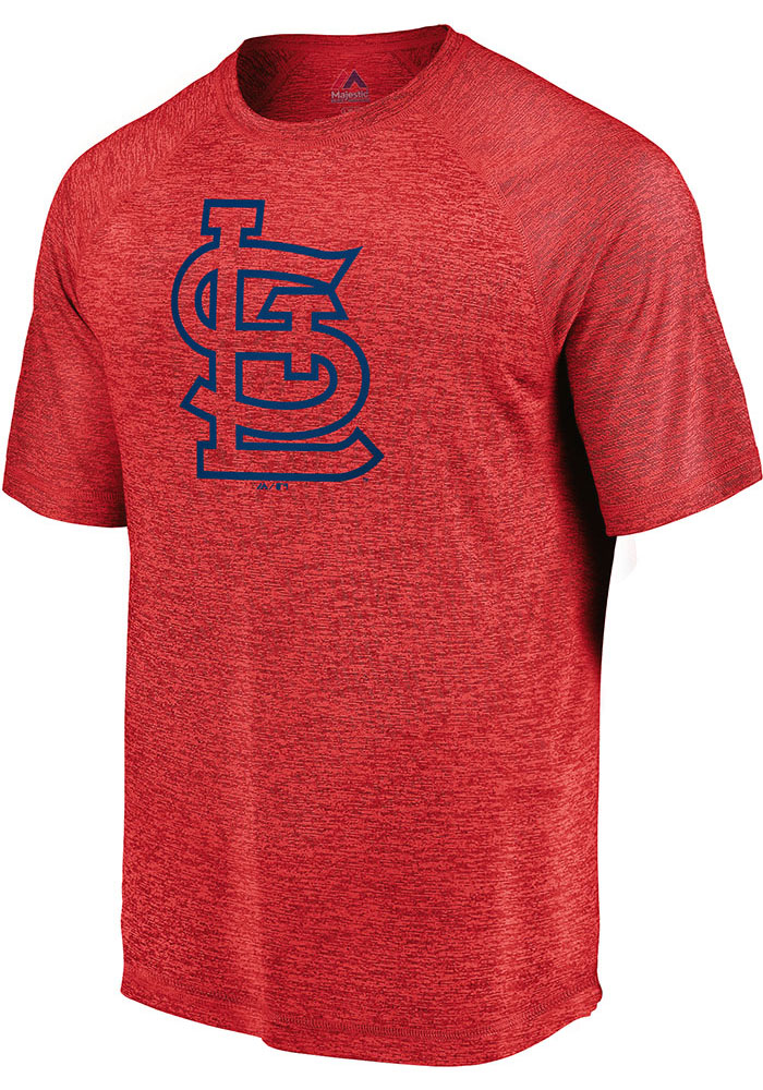 St Louis Cardinals Red Primary Logo Short Sleeve T Shirt - Image 1